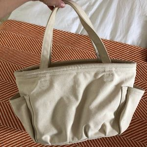 DKNY PURE muslin canvas utility tote